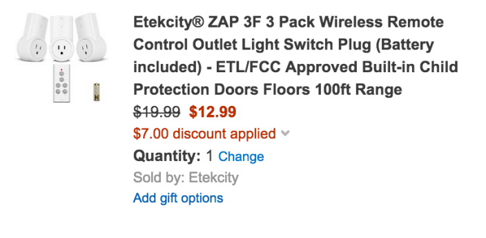 Etekcity ZAP Wireless Remote Control Outlet Light Switch Plugs-sale-01