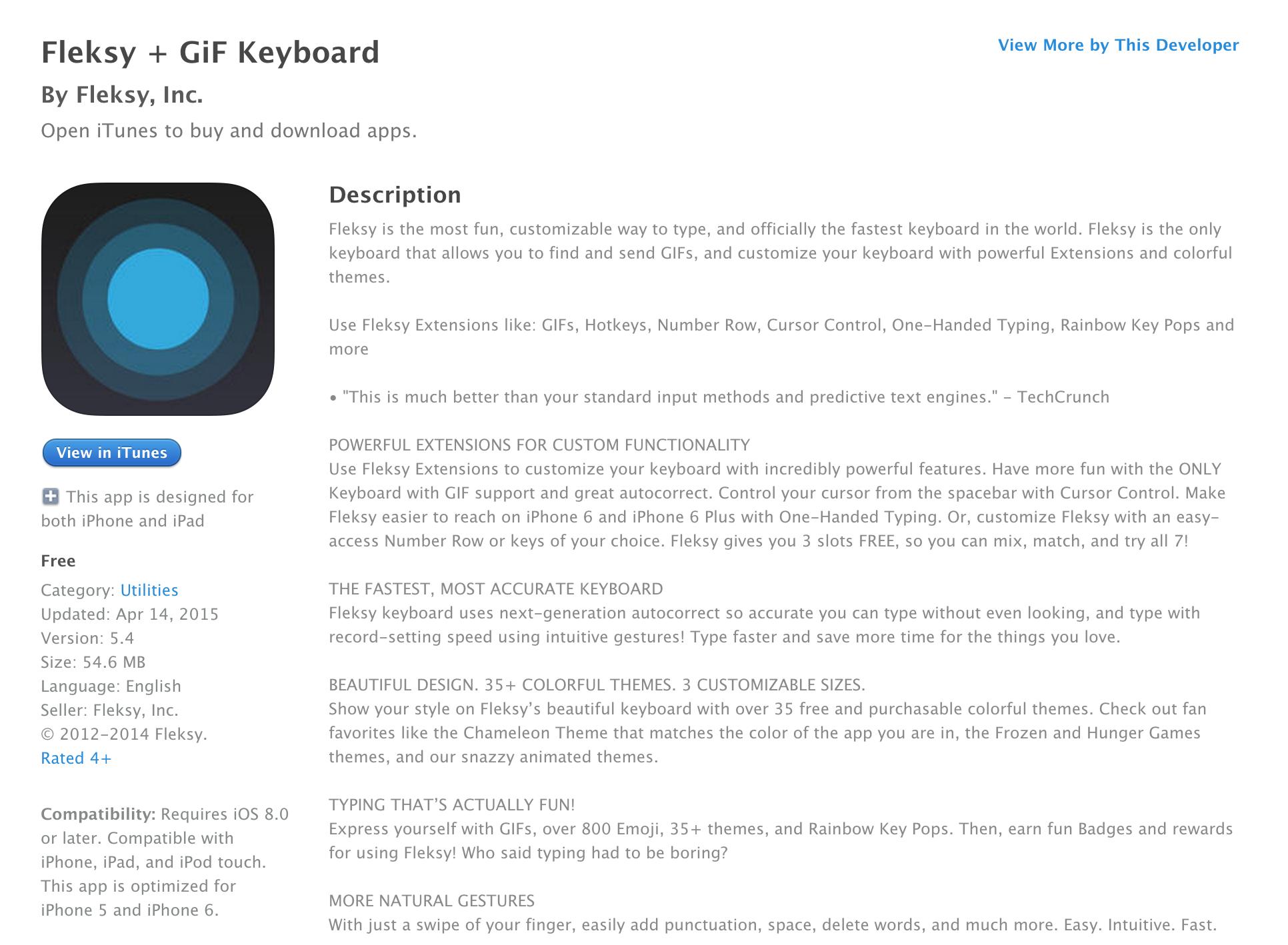 Fleksy customizable keyboard app w/ GIF support goes free