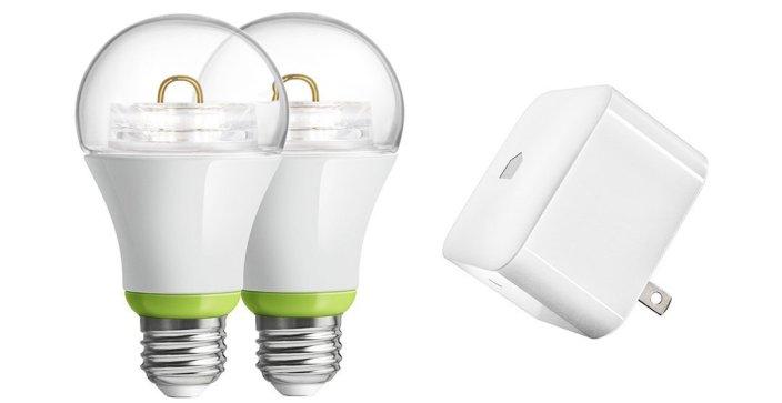 GE Link Starter Kit, PLINK-SKIT, Wireless, A19 LED Light Bulb-sale-01