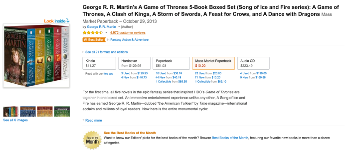 George R. R. Martin's A Game of Thrones 5-Book Boxed Set (Song of Ice and Fire series)-sale-02