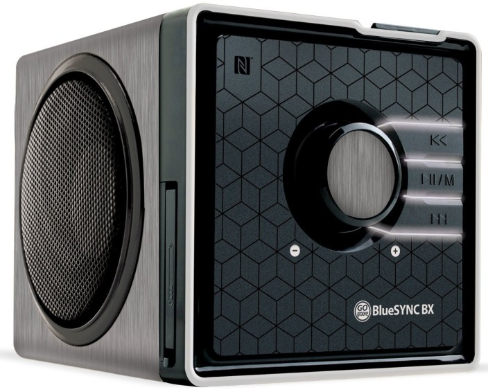 GOgroove BlueSYNC BX Portable Multimedia Bluetooth Speaker with NFC Technology and Removable Battery