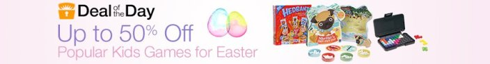 Kid's board games and more for Easter-Gold Box-sale