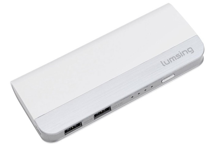 Lumsing 10400mAh Portable Power Bank Dual USB External Battery Charger