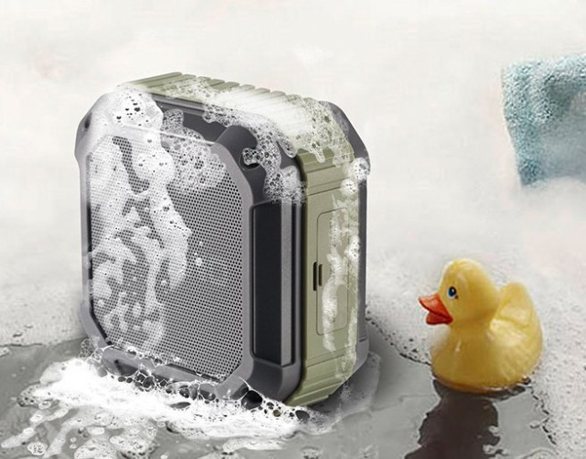 Omaker M4 Portable Bluetooth 4.0 Speaker with 12 Hour Playtime- Rugged Splashproof and Shockproof Wireless Bluetooth Speaker for Outdoors:Shower With NFC Tap & Play Technology