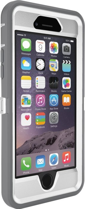 OtterBox Defender Series iPhone 6 Case, Frustration Free Packaging, White:Grey