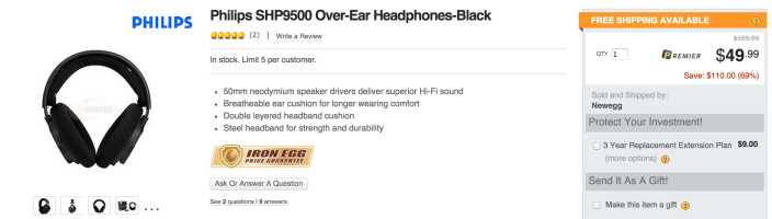 Philips SHP9500 Over-Ear Headphones-sale-02