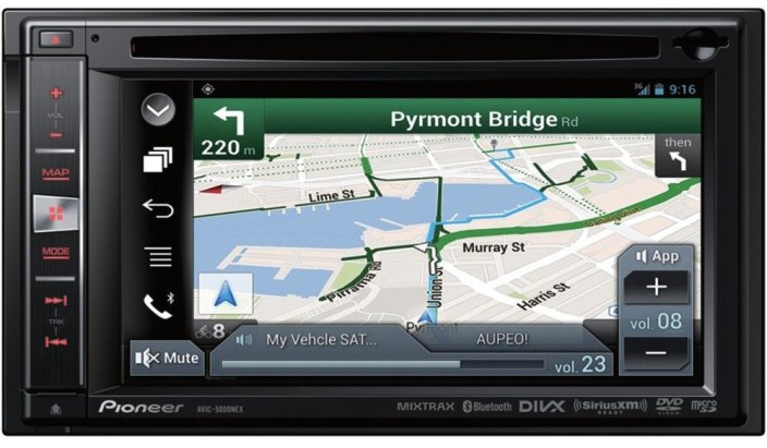 Pioneer 6.1%22 Built-In GPS: Built-In Bluetooth : Apple iPod-Ready In-Dash Receiver