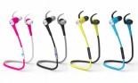 POM Gear Sport Pro2Go SP-100 Bluetooth 4.1 Wireless Noise Canceling Sweat-Proof Premium Earbuds with Mic