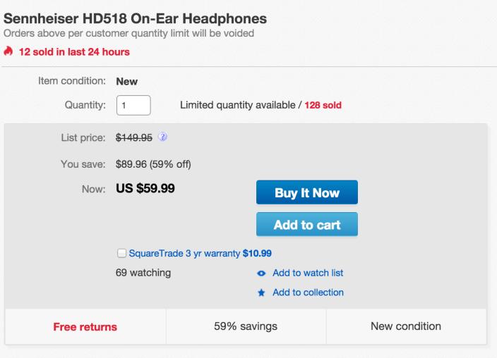 Sennheiser HD518 On-Ear Headphones-sale-01