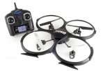 UDI Quadcopter Remote Control Drone w: On-Board Video Camera, Micro SD Card, 4-Channel LCD Transmitter & 6 Axis Gyro Stabilization
