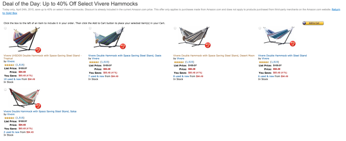 Vivere Double Hammock with Space Saving Steel Stand-sale-02