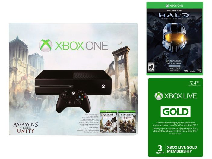 Xbox One Assassin's Creed Unity bundle-Halo Master Chief Collection-sale-01