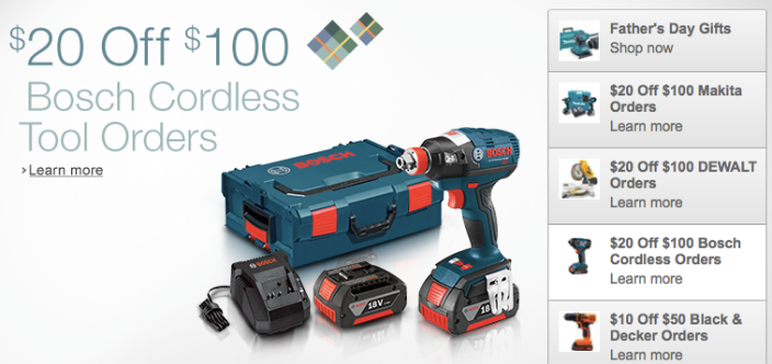 Father's Day Deals - Black & Decker Tools extra $10 off $50