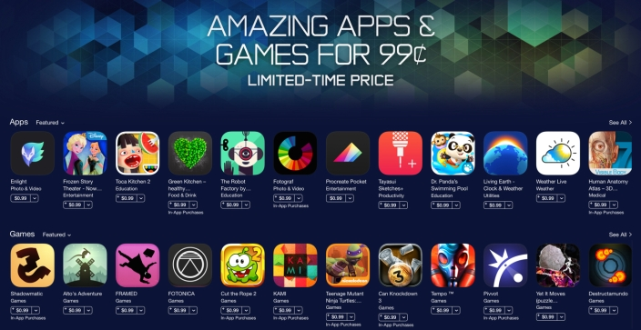 App Store-sale-iOS-01-Amazing Apps and Games
