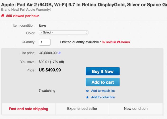 Apple iPad Air 2 Wi-Fi 64GB in all colors-sale-01