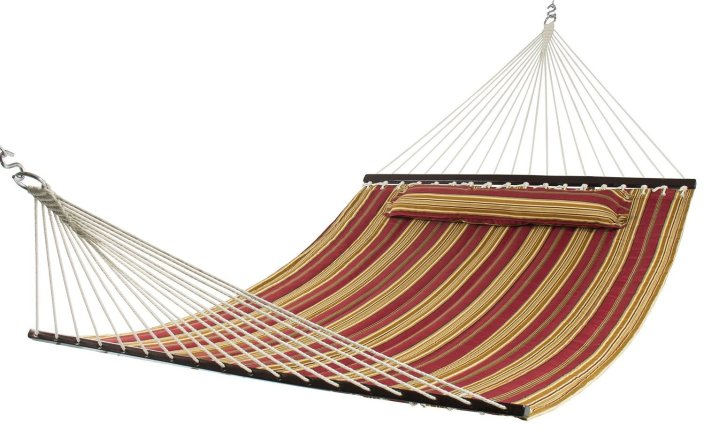 Best Choice Products® Hammock Quilted Fabric With Pillow Double Size Spreader Bar Heavy Duty Stylish-sale-01