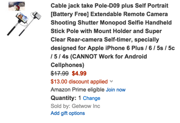Cable jack take Pole-D09 plus Self Portrait [Battery Free] Extendable Remote Camera