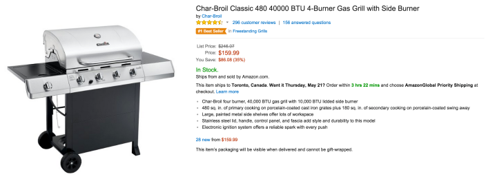Char-Broil Classic 40,000 BTU 4-Burner Gas Grill with Side Burner-sale-02