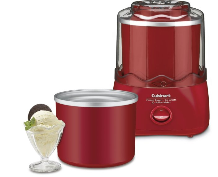 Cuisinart Automatic 1-1:2-Quart Ice Cream Maker in red (ICE-20 RD)-sale-01