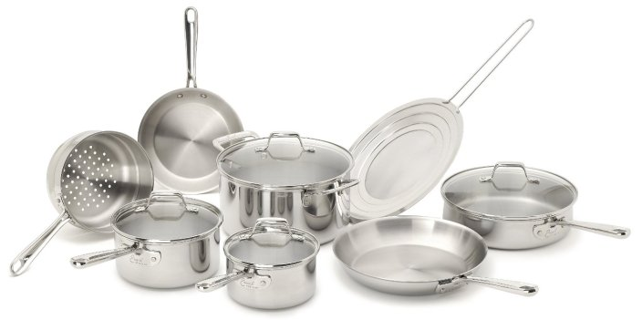 Emeril by All-Clad 2100058159 PRO-CLAD Tri-Ply Stainless Steel 12-Pc Cookware Set-sale-01