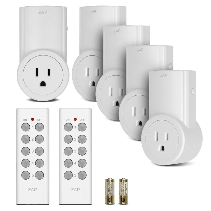 Etekcity Wireless Outlet Light Switch set w: 2 Remotes & 5 outlets-sale-01