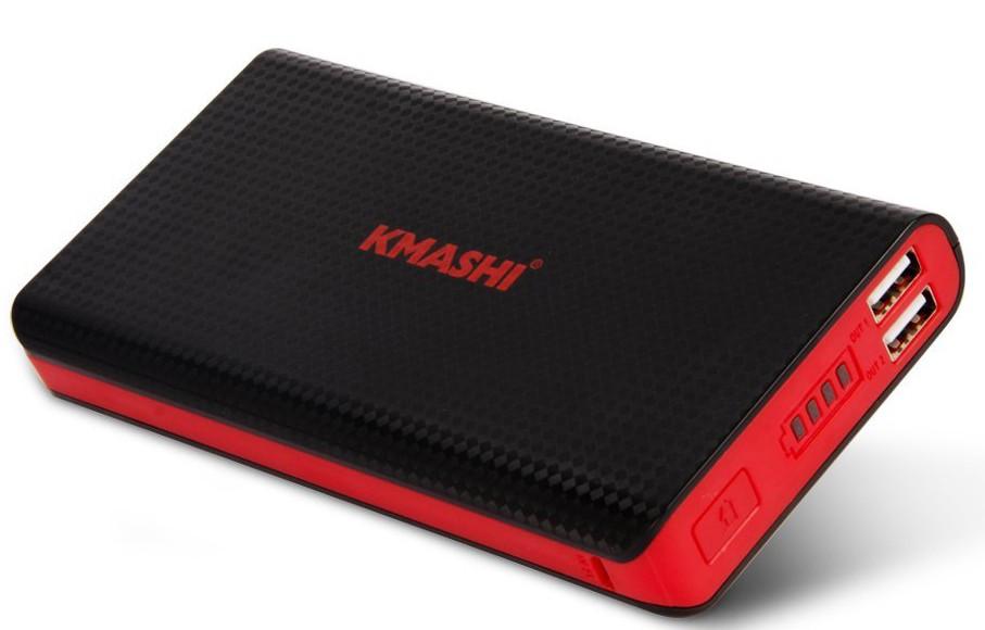 KMASHI 15000mAh MP836 (2Amp+1Amp Output) Dual USB Fast Charger