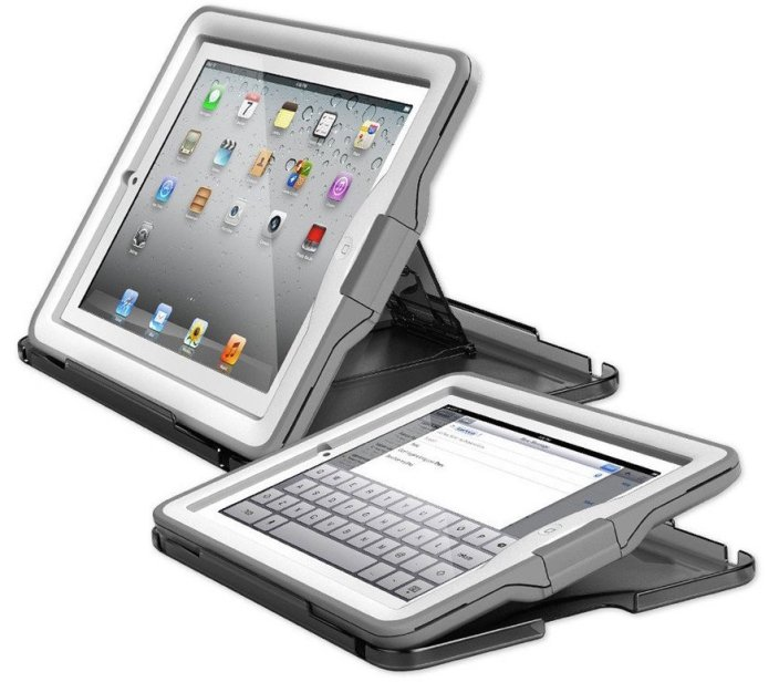 LifeProof nüüd Case & Cover:Stand for iPad Gen 2:3:4 - White : Gray