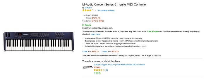 M-Audio Oxygen Series 61 Ignite MIDI Controller keyboard-sale-03