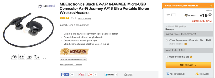 MEElectronics Air-Fi Journey AF16 Ultra Portable Stereo Wireless Headset (EP-AF16-BK-MEE)-sale-02