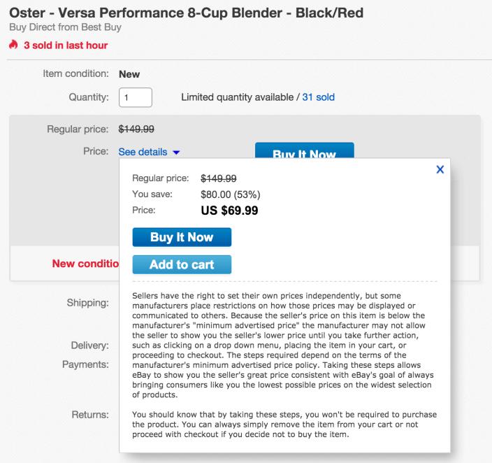 Oster Versa 1100-watt Professional Performance Blender w: two 20-Ounce Blend'N Go Cups (BLSTVB-103-000)-sale-02