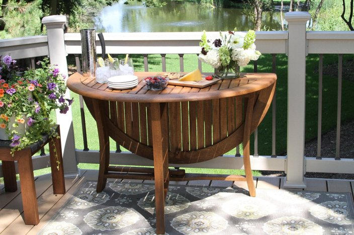 Outdoor Interiors 48%22 Round Fold Table-sale-01