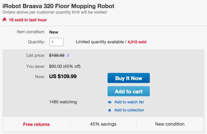 Robot Braava 320 Floor Mopping Robot-sale-01