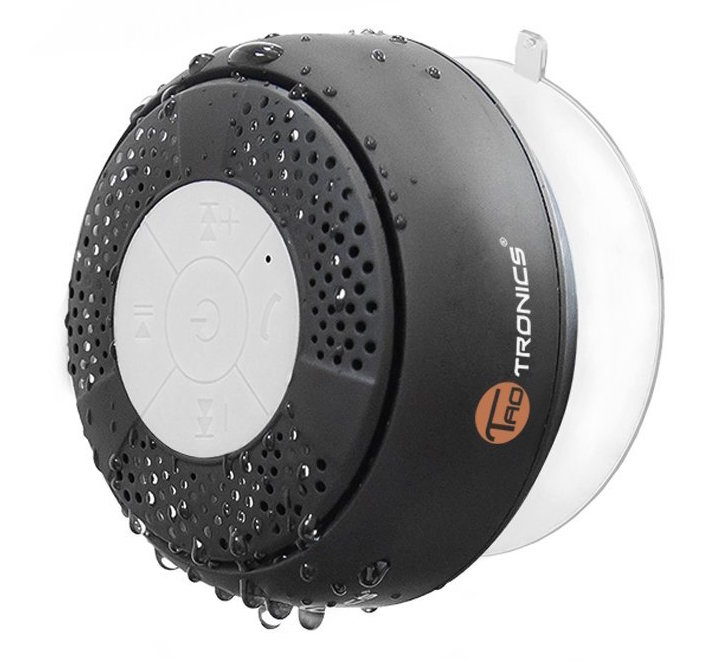 TaoTronics Water Resistant Wireless Bluetooth Stereo Shower Speaker (Bluetooth 3.0, Hands-Free, Built-in Mic, A2DP:AVRCP)