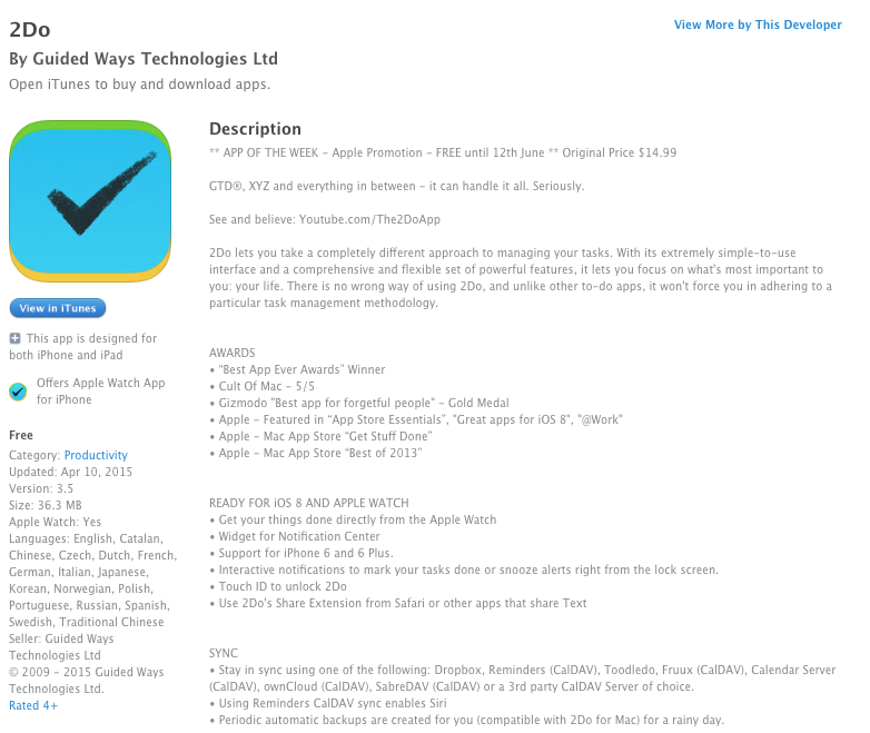App Store Free App of the Week: 2Do task management app for