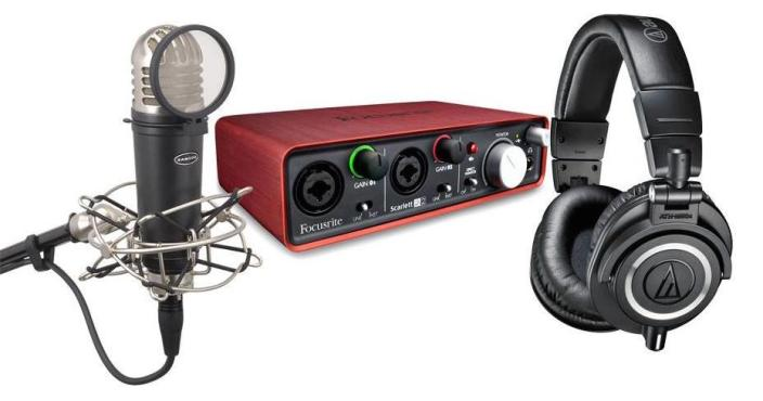 Audio-Technica ATH-M50x-Scarlett-bundle