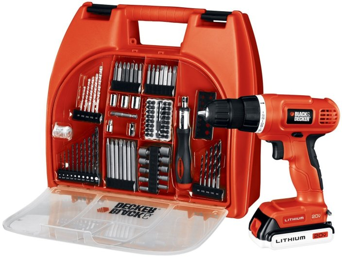 Black & Decker 20-Volt MAX Lithium-Ion Drill Kit with 100 Accessories-sale-01