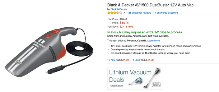 Black & Decker AV1500 DustBuster Auto Vac-sale-02