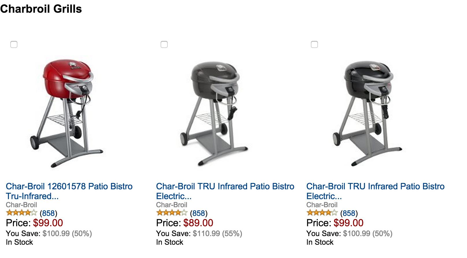 Char Broil TRU Infrared Patio Bistro Electric Grill Sale 03 ...