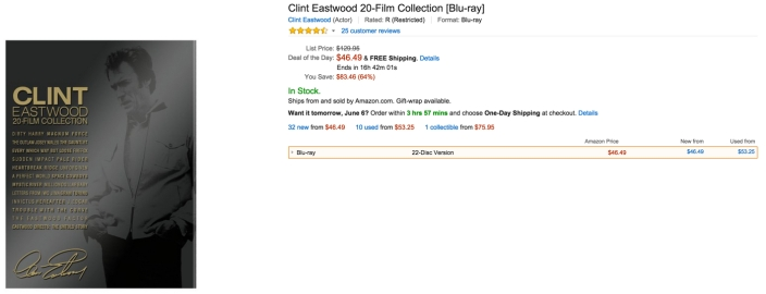 Clint Eastwood 20-Film Collection [Blu-ray] dvd