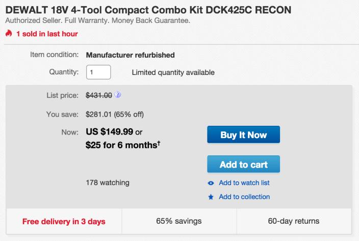 DEWALT 18V 4-Tool Compact Combo Kit (DCK425C)-sale-02