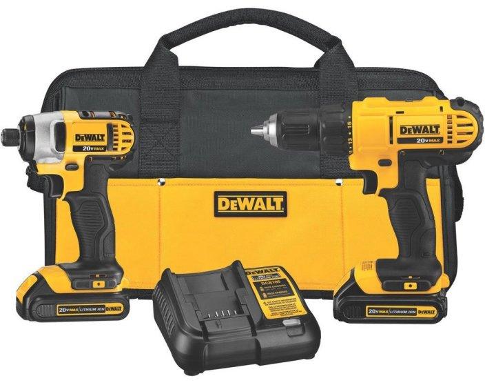 DeWALT Cordless Drill Impact Driver Tool Combo Kit-sale-01