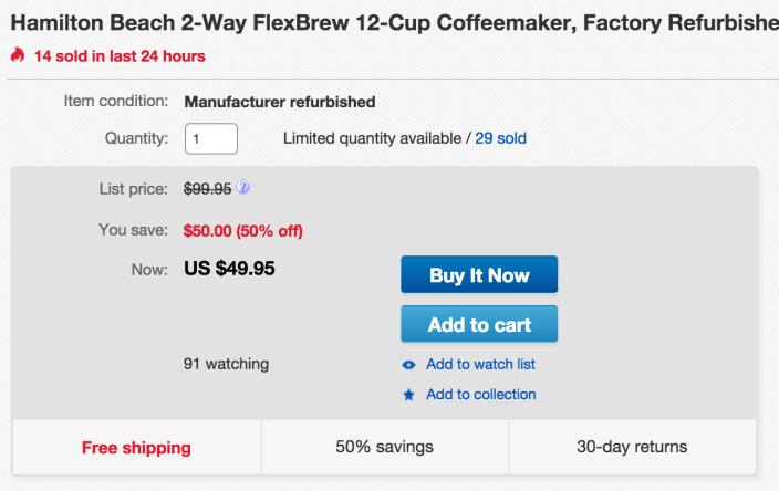 Hamilton Beach 2-Way FlexBrew Coffeemaker (49983)-sale-01