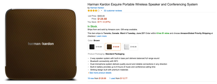 Harman Kardon Esquire Portable Wireless Speaker and Conferencing System-sale-0