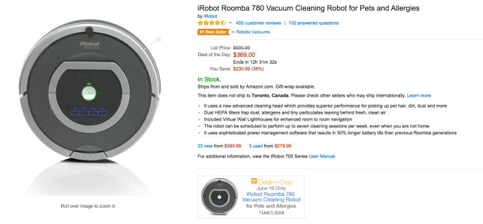 iRobot Roomba 780 Vacuum Cleaning Robot for Pets and Allergies-sale-02