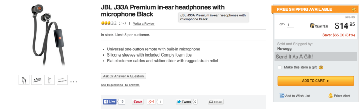 JBL J33A Premium in-ear headphones with microphone-sale-02