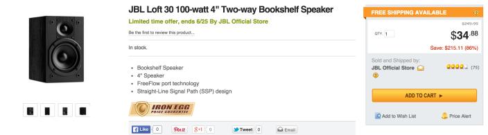 JBL Loft 30 Two-Way 4-inch Bookshelf speakers-sale-02