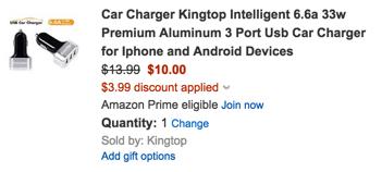 KingTop car charger 3-port