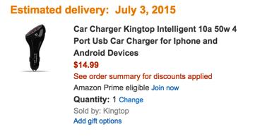 kingtop car charger amazon
