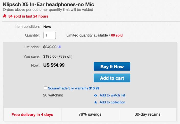 Klipsch X5 in-ear headphones-sale-01
