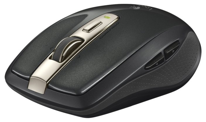 Logitech - Anywhere Mouse MX Wireless Laser Mouse - Black